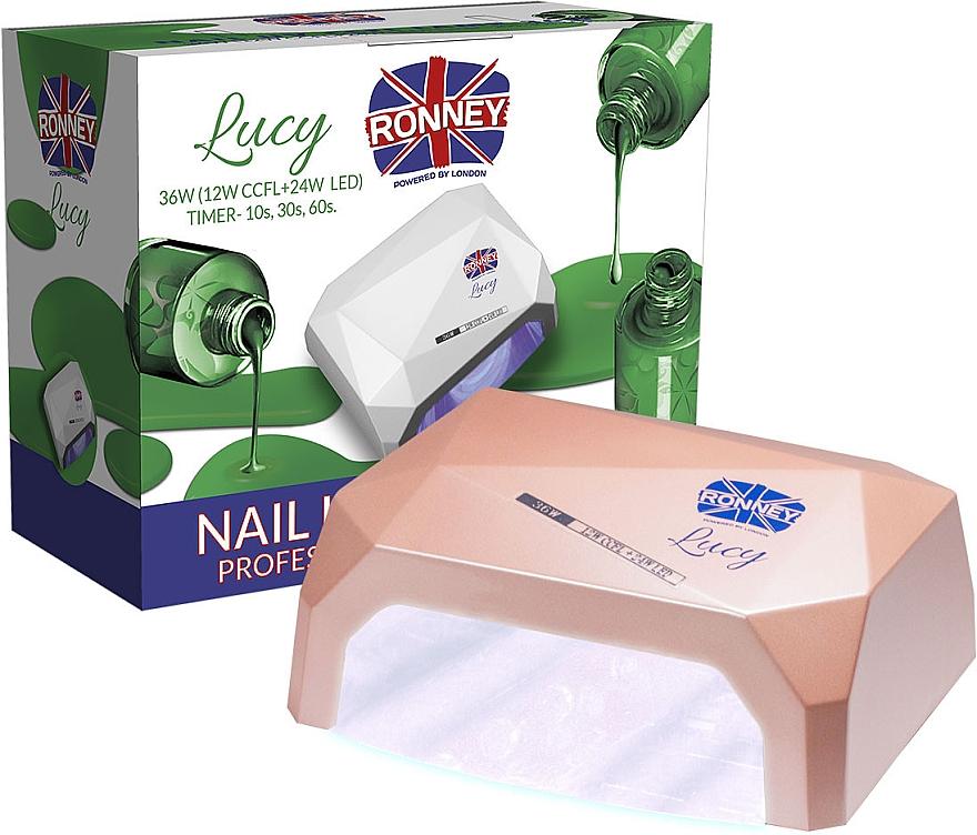 CCFL/LED Lampe für Nageldesign kaffeebraun - Ronney Profesional Lucy CCFL + LED 36W (GY-LCL-021) Lamp