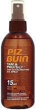 Düfte, Parfümerie und Kosmetik Bräunungsbeschleuniger SPF 15 - Piz Buin Tan&Protect Tan Accelerating Oil Spray SPF15