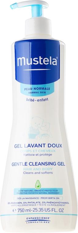 Mildes und aufweichendes Haar- und Körperwaschgel für Kinder und Babys - Mustela Dermo-Cleansing