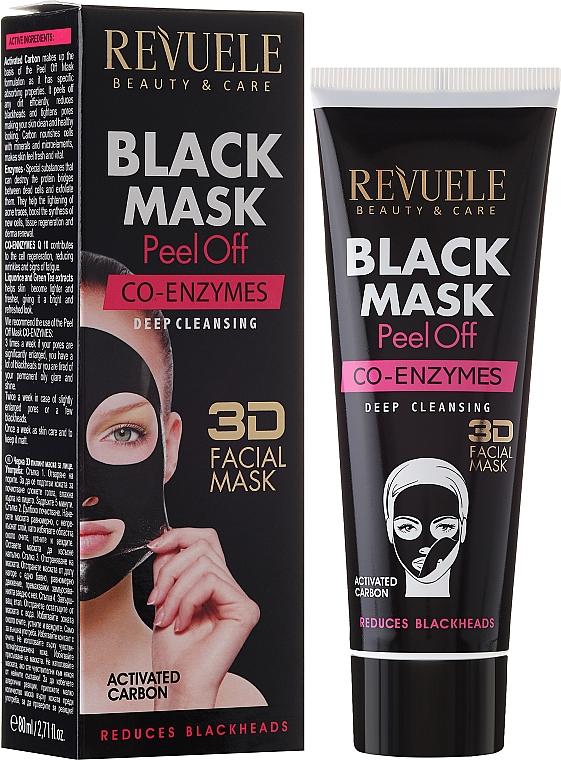 Schwarze Peel-Off Gesichtsmaske mit Coenzym Q10 - Revuele Black Mask Peel Off Co-Enzymes