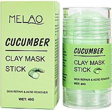 Düfte, Parfümerie und Kosmetik Reinigende und entgiftende Gesichtsmaske in Stick mit Gurke - Melao Cucumber Clay Mask Stick