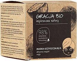 Düfte, Parfümerie und Kosmetik Reinigende Gesichtsmaske mit Aktivkohle - Gracja Bio