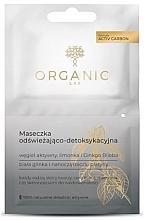 Düfte, Parfümerie und Kosmetik Erfrischende und entgiftende Gesichtsmaske mit Aktivkohle, Zitrone und Gingko Biloba - Organic Lab Refreshing And Detoxifying Mask