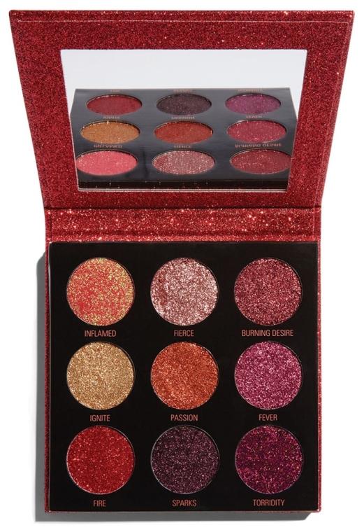 Lidschattenpalette mit Glitzer - Makeup Revolution Pressed Glitter Palette Hot Pursuit