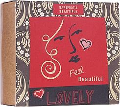 Düfte, Parfümerie und Kosmetik Gesichts- und Körperpflegeset - Bath House Barefoot & Beautiful (Beruhigende Gesichtsmaske 15g + Meersalz für Füße 60ml + Lippenbalsam mit Pflaumengeschmack 15g)