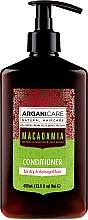 Düfte, Parfümerie und Kosmetik Haarsplülung mit Macadamia für strapaziertes und trockenes Haar - Arganicare Macadamia Conditioner