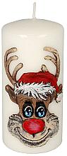 Düfte, Parfümerie und Kosmetik Dekorative Kerze Rudolf weiß 7x10 cm - Artman Christmas Candle Rudolf