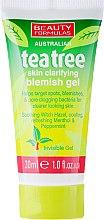 Düfte, Parfümerie und Kosmetik Entzündungshemmendes Gesichtsgel mit Zaubernuss und Pfefferminz - Beauty Formulas Tea Tree Skin Clarifying Blemish Gel