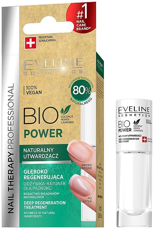 Tief regenerierende natürliche Nagelbehandlung - Eveline Cosmetics Nail Therapy Bio Power