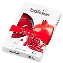 Düfte, Parfümerie und Kosmetik Teelichter True Scents Pomegranate - Bolsius Scented Tea Light Candles True Scents Pomegranate