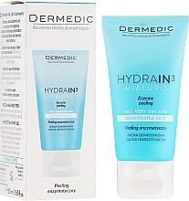 Düfte, Parfümerie und Kosmetik Enzym-Peeling für Gesicht, Hals und Dekolleté mit Hyaluronsäure, AHA-Säuren und L-Arginin - Dermedic Hydrain3 Hialuro Peel