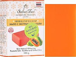 Düfte, Parfümerie und Kosmetik Seife mit Papayaextrakt und tropischen Kräutern - Sabai Thai Herbal Papaya Soap
