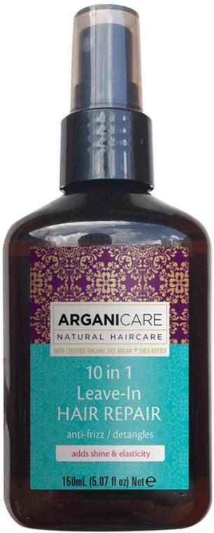 10in1 Regenerierende Anti-Frizz Haarpflege mit Arganöl und Sheabutter ohne Ausspülen - Arganicare Shea Butter 10 in 1 Leave-In Hair Repair Anti-Frizz