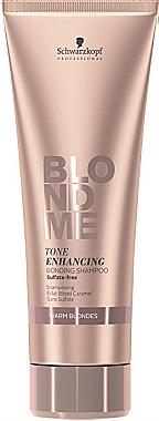 Farbschützendes Shampoo für warme Blondtöne - Schwarzkopf Blondme Color Enhancing Rich Caramel Warm Blond Shampoo — Bild N3