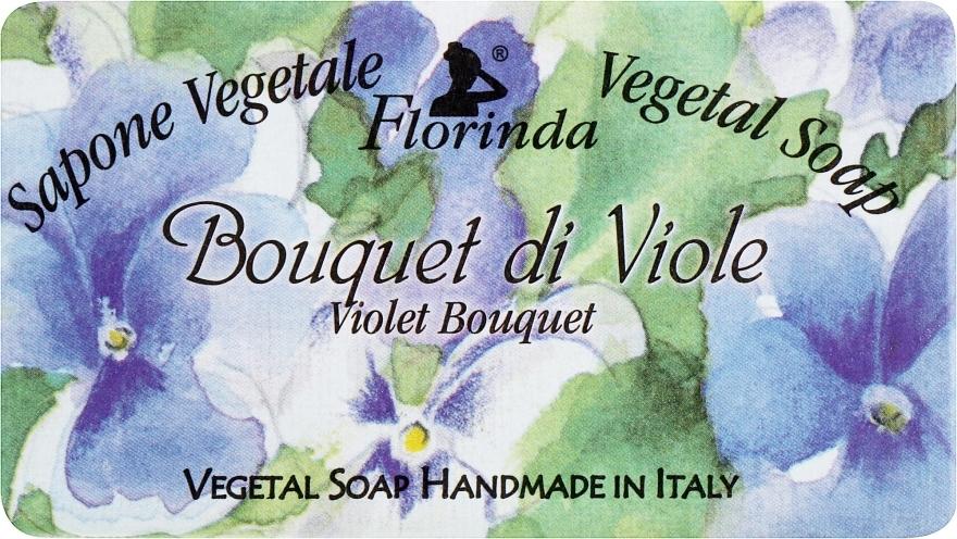 Naturseife Veilchenstrauß - Florinda Sapone Vegetale Vegetal Soap Violet Bouquet