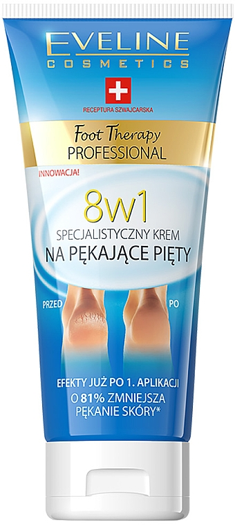 8in1 Fußcreme für rissige Fersen - Eveline Cosmetics Foot Therapy Professional