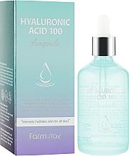 Düfte, Parfümerie und Kosmetik Feuchtigkeitsspendendes Gesichtsserum mit Hyaluronsäure - FarmStay Hyaluronic Acid 100 Ampoule