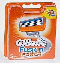 Düfte, Parfümerie und Kosmetik Ersatzbare Rasierklingen 5 St. - Gillette Fusion Power