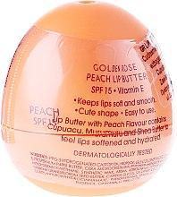 "Düfte, Parfümerie und Kosmetik Lippenbutter ""Pfirsich"" SPF 15 - Golden Rose Lip Butter SPF15 Peach"