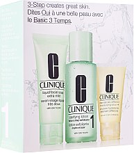 Düfte, Parfümerie und Kosmetik Set - Clinique 3-Step System Type I (soap/50ml + lot/100ml + lot/30ml)