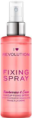 Make-up-Fixierer - I Heart Revolution Fixing Spray Strawberries & Cream