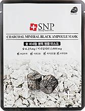 Düfte, Parfümerie und Kosmetik Reinigende Tuchmaske für das Gesicht mit Aktivkohle - SNP Charcoal Mineral Black Ampoule Mask
