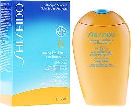 Düfte, Parfümerie und Kosmetik Intensiv pflegende Sonnenschutz-Emulsion für Gesicht und Körper SPF 6 - Shiseido Suncare Tanning Emulsion SPF 6