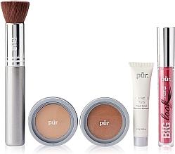 Düfte, Parfümerie und Kosmetik Make-up Set - Pur Minerals Best Sellers Starter Kit Light Tan (Gesichtsprimer 10ml + Foundation 4.3g + Bronzier Puder 3.4g + Mascara 5g + Make-up Pinsel)