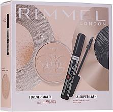Düfte, Parfümerie und Kosmetik Make-up Set - Rimmel Forever Matte & Super Lash (Wimperntusche 8ml + Gesichtspuder 14g)