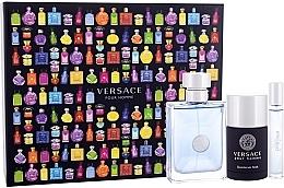 Düfte, Parfümerie und Kosmetik Versace Pour Homme - Duftset (Eau de Toilette 100ml + Eau de Toilette Mini 10ml + Deostick 75ml)