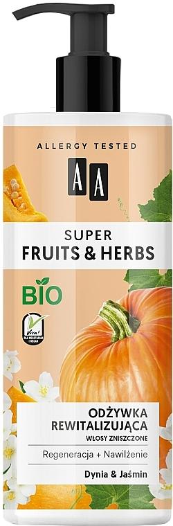 Revitalisierende Haarspülung für strapaziertes Haar mit Kürbis und Jasmin - AA Super Fruits Herbs Conditioner