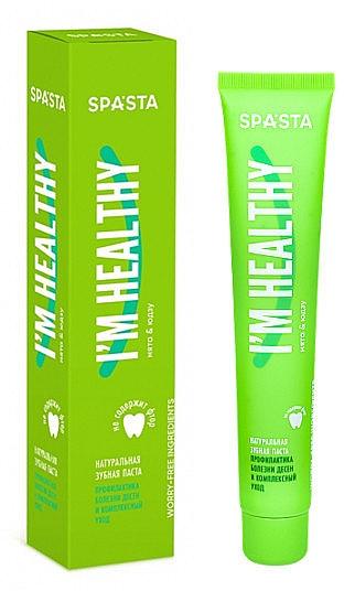 Natürliche Zahnpasta zur Vorbeugung von Zahnfleischerkrankungen - Spasta I Am Healthy Toothpaste