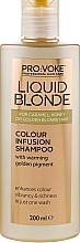 Düfte, Parfümerie und Kosmetik Farbverstärkendes Shampoo für blondes und helles Haar - Pro:Voke Liquid Blonde Colour Infusion Shampoo