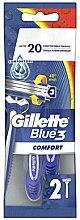 Düfte, Parfümerie und Kosmetik Einwegrasierer 2 St. - Gillette Blue 3 Comfort