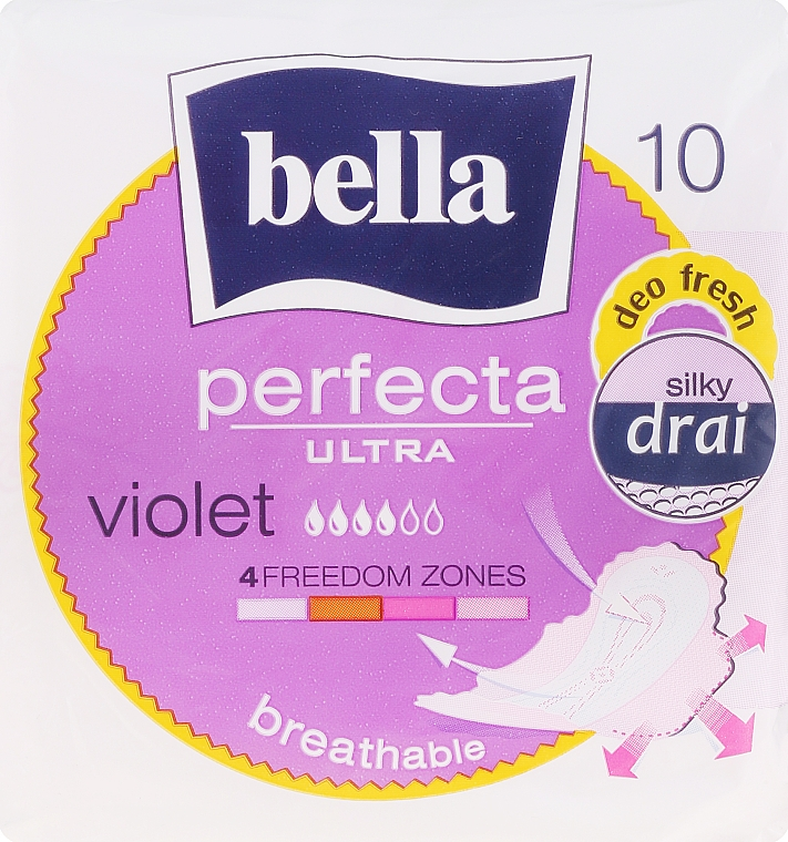 Damenbinden Perfecta Violet Deo Fresh Soft Ultra 10 St. - Bella