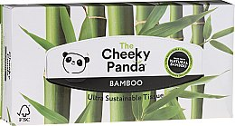 Düfte, Parfümerie und Kosmetik Bambus Kosmetiktücher im Spenderbox 80 St. - Cheeky Panda Bamboo Facial Tissue Cube