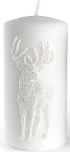 Düfte, Parfümerie und Kosmetik Dekorative Kerze weiß 7x14 cm - Artman Jelen Application (Deep Application)
