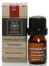 "Düfte, Parfümerie und Kosmetik Ätherisches Öl ""Zimt"" - Apivita Aromatherapy Organic Cinnamon Oil"