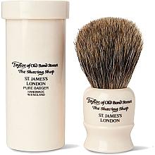 Düfte, Parfümerie und Kosmetik Rasierpinsel 8,5 cm mit Pinseletui weiß - Taylor of Old Bond Street Shaving Brush Pure Badger