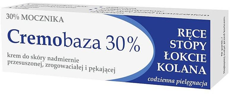 Aufweichende und feuchtigkeitsspendende Creme mit 30% Harnstoff für rissige, schwielige und trockene Hände, Füße, Ellbogen und Knie - Farmapol Cremobaza 30%