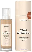 Düfte, Parfümerie und Kosmetik Feuchtigkeitsspendende Sonnenschutzcreme für das Gesicht SPF 30 - Resibo Team Sunscreen Moisturizing Cream SPF 30