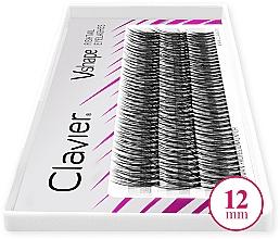 Düfte, Parfümerie und Kosmetik Künstliche Wimpernbüschel 12 mm - Clavier V-Shape Eyelashes