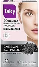 Düfte, Parfümerie und Kosmetik Enthaarungswachsstreifen für das Gesicht mit Aktivkohle - Taky Activated Carbon Facial Wax Strips