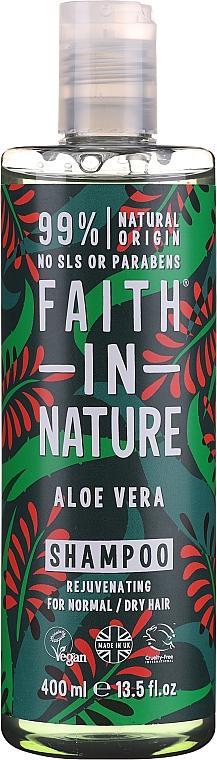 Verjüngendes Shampoo mit Aloe Vera für normales und trockenes Haar - Faith In Nature Aloe Vera Shampoo