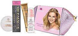 Düfte, Parfümerie und Kosmetik Set - Dermacol (foundation/30g + makeup/base/30ml + powder/13g + bag)
