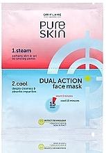 Düfte, Parfümerie und Kosmetik Reinigende und aufweichende Gesichtsmaske zur Porenverengung in 2 Schritten - Oriflame Pure Skin