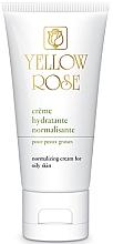 Düfte, Parfümerie und Kosmetik Normalisierende feuchtigkeitsspendende und mattierende Gesichtscreme für fettige Haut - Yellow Rose Creme Hydratante Normalisante