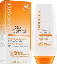 Düfte, Parfümerie und Kosmetik Anti-Aging Sonnenschutzmilch für den Körper gegen dunkle Flecken SPF 50 - Lancaste Sun Control Body Uniform Tan Milk Spf 50