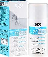 Düfte, Parfümerie und Kosmetik Sonnenschutzlotion SPF 20 duftfrei - Eco Cosmetics Sun Lotion SPF 20