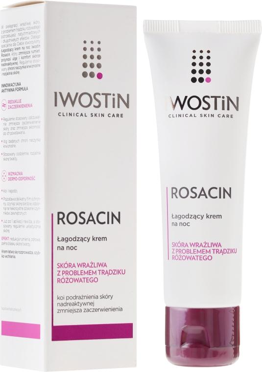 Beruhigende Nachtcreme für das Gesicht bei Rosacea - Iwostin Rosacin Redness Reducing Night Cream